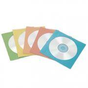 Конверт бумажный на 1CD с окном, цветные, 100шт