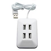 HUB 4-port Perfeo PF-VI-H028, USB2.0, белый (PF_4783)