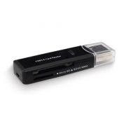 Карт-ридер внешний USB Perfeo PF-VI-CR3002B, черный, USB 3.0