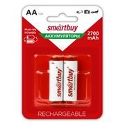 Аккумулятор AA SmartBuy HR6-2BL 2700мА/ч Ni-Mh, 2шт, блистер (SBBR-2A02BL2700)