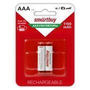 Аккумулятор AAA SmartBuy HR03-2BL 1100мА/ч Ni-Mh, 2шт, блистер (SBBR-3A02BL1100)