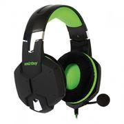 Гарнитура SmartBuy RUSH VIPER, игровая мобильная, черн/зеленая (SBHG-2100)