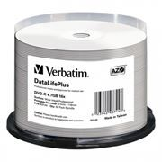 Диск DVD-R Verbatim 4,7 Gb 16x Professional Wide Inkjet Printable, Cake Box, 50 шт (43744)