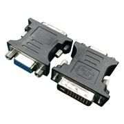 Адаптер DVI/M - VGA/15F, черный, Cablexpert (A-DVI-VGA-BK)