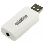 Звуковая карта USB ORIENT AU-02W, выход 3.5 мм 4-pin, белая