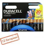 Батарейка AA DURACELL TURBO MAX LR6-12BL, 12 шт, блистер