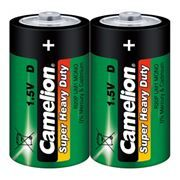 Батарейка D CAMELION Heavy Duty R20, солевая, 2шт, термопленка