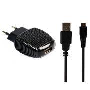 Зарядное устройство SmartBuy NOVA MKII, 2.1A USB + кабель miniUSB, черное (SBP-1004MN)