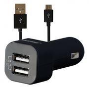 Зарядное автомобильное устройство SmartBuy ARVY + кабель microUSB, 3.1A 2xUSB  (SBPARVY-1650)