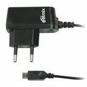 Зарядное устройство RITMIX RM-110 220V->5V 1A  кабель microUSB, черное