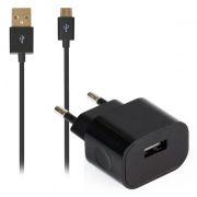 Зарядное устройство SmartBuy NITRO, 1A USB, + кабель micro USB, черное (SBP-1001MC)
