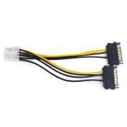 Переходник питания для видеокарты PCI-E 8pin -> 2 x SATA, Cablexpert (CC-PSU-83)