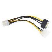 Переходник питания для видеокарты PCI-E 8pin -> 5 Molex + SATA, Cablexpert (CC-PSU-82)