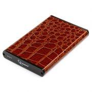 Внешний контейнер для 2.5 HDD S-ATA Gembird EE2-U2S-70L-BR, коричневый, металл/кожзам, USB 2.0