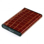 Внешний контейнер для 2.5 HDD S-ATA Gembird EE2-U3S-70L-BR, коричневый, металл/кожзам, USB 3.0