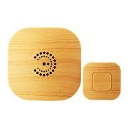 Звонок беспроводной ЭРА BIONIC Bright Wood, 6 мелодий, радиус 100 м, питание 2xAA/1xCR2032