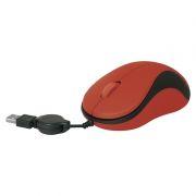 Мышь DEFENDER MS-960, красная, USB, скручивающийся кабель (52961)