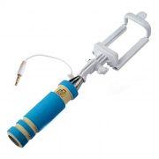 Монопод для селфи SmartBuy MINNIE, складной держатель, синий (SBMO-6020)