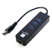 Адаптер USB 3.0 Am - RJ45 1 Гбит/с + HUB 3 порта USB 3.0, 5bites (UA3-45-04BK)