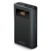 Зарядное устройство Qumo PowerAid с аккумулятором 9600 мА/ч, PRO, ЖК-дисплей, черное (21782)