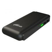 Зарядное устройство RITMIX RPB-10001L Black с аккумулятором 10000 мА/ч, 2xUSB, фонарик