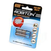 Аккумулятор AAA ROBITON HR03 600мА/ч Ni-Mh, 2шт, блистер (8794)
