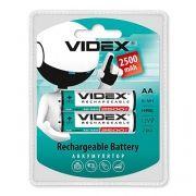 Аккумулятор AA VIDEX HR6-2BL 2500мА/ч Ni-Mh, LSD, низк. саморазряд, 2шт, блистер