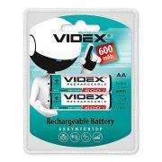 Аккумулятор AA VIDEX HR6-2BL 600мА/ч Ni-Mh, 2шт, блистер