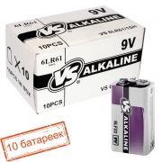 Батарейка 9V VS 6LR61/1SH Alkaline, упаковка 10 шт