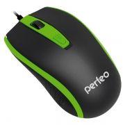 Мышь Perfeo Profil, чёрно-зелёная, USB (PF-383-OP-B/GN)