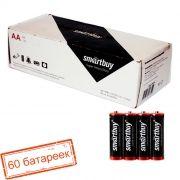 Батарейка AA SmartBuy R6/4S, солевая, термопленка, упаковка 60 шт (SBBZ-2A04S)