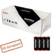 Батарейка AAA SmartBuy R03/4S, солевая, термопленка, упаковка 60 шт (SBBZ-3A04S)