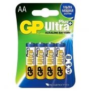 Батарейка AA GP Ultra Plus Alkaline LR6, 4 шт, блистер (GP 15AUP-2CR4)