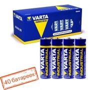Батарейка AA VARTA LR6/40BOX Industrial, щелочная, 40 шт, в боксе (4006)