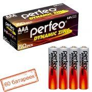 Батарейка AAA Perfeo R03/4SH Dynamic Zinc, 60 шт, коробка