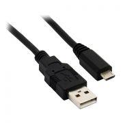 Кабель USB 2.0 Am=>micro B - 0.5 м, черный, VS (U005)