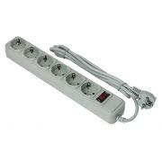 Сетевой фильтр ExeGate SP-6-1.8G, 1.8 м, 10A, 6 розеток, серый