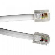 Кабель телефонный c разъёмами 6p4c RJ11, 3 м, белый, Gembird (TC6P4C-3M)