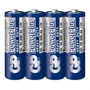 Батарейка AA GP PowerPlus R6/4SH, 4 шт, солевая, в термопленке (15CEBRA-2S4)