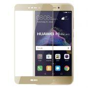 Защитное стекло для экрана Huawei P8 lite (17) Gold, Full Screen Asahi, Perfeo (PF_5070)