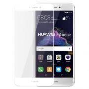 Защитное стекло для экрана Huawei P8 lite (17) White, Full Screen Asahi, Perfeo (PF_5069)