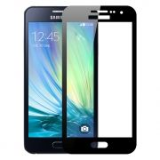 Защитное стекло для экрана Samsung Galaxy A3 (16) Black, Full Screen Asahi, Perfeo (107)