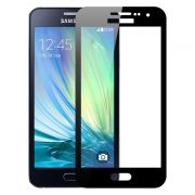 Защитное стекло для экрана Samsung Galaxy A5 (16) Black, Full Screen Asahi, Perfeo (108)