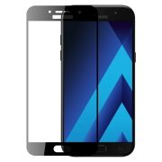 Защитное стекло для экрана Samsung Galaxy A7 (17) Black, Full Screen Asahi, Perfeo (90) (PF_5077)