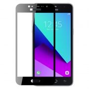 Защитное стекло для экрана Samsung Galaxy J2 Prime Black, Full Screen Asahi, Perfeo (102)