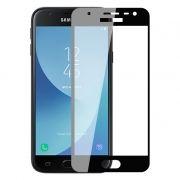 Защитное стекло для экрана Samsung Galaxy J3 (17) Black, Full Screen Asahi, Perfeo (93) (PF_5080))