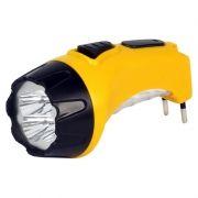 Фонарь SmartBuy, аккумуляторный, зарядка 220В, желтый, 4+6 LED (SBF-87-Y)