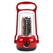 Фонарь кемпинговый SmartBuy, аккумуляторный, красный, 35+6 SMD (SBF-36-R)