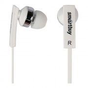 Гарнитура SmartBuy OK для мобильных устройств, белая, вставная, плоский кабель (SBH-140)