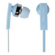 Гарнитура SmartBuy OK для мобильных устройств, синяя, вставная, плоский кабель (SBH-155)